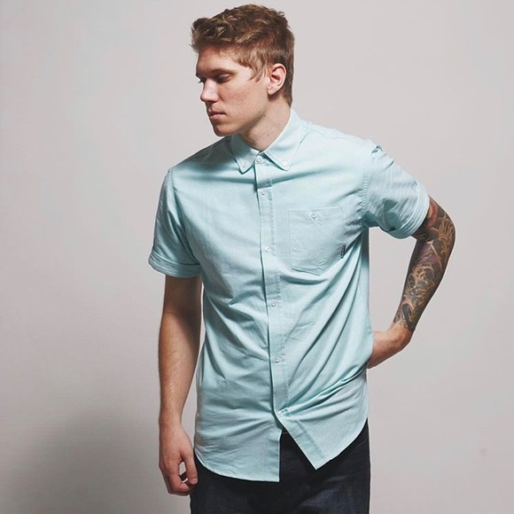 overthrow Other - Overthrow Rockwell button up in Adobe Blue